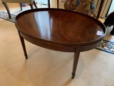 Mahogany Georgian style oval coffee table