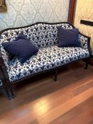 Regency style upholstered sofa