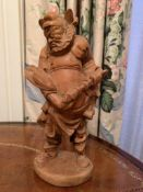 Wooden carving of a Samurai