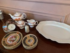 Part Wedgwood 'Dynasty' tea set; Tiffany & Co. 'Mirage' side plates and cups; and other.