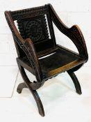 Oak framed Glastonbury chair