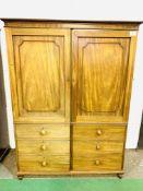 Victorian mahogany wardrobe.