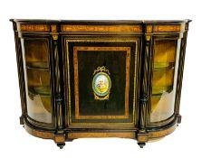 Victorian ebonised and walnut Credenza