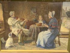Henry John Terry (1818-1880). Gilt framed and glazed watercolour, 62 x 85cms.