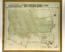 """Framed and glazed plan of """"The Choice Freehold Building Estate situate on Breezy Caversham Heights"""""""
