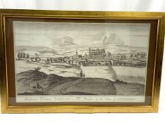 Pair of gilt framed and glazed engravings of the Palace of Linlithgow