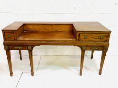 George III mahogany former spinnet later converted to a desk