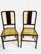 Two Art Deco style mahogany bedroom chairs