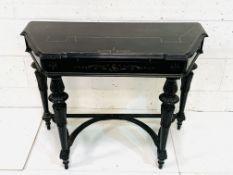 Ebonised writing table
