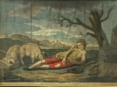 Two 17th century style framed and glazed prints of the Prodigal Son