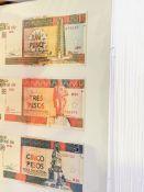 A collection of Cuban facsimile money.