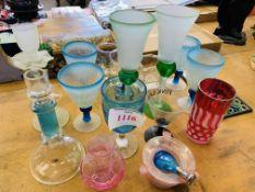 Quantity of assorted glassware