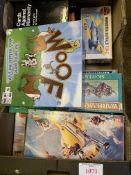 Various board games, boxed Air fix models, Warhammer, etc.