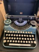 Underwood portable typewriter in original case.