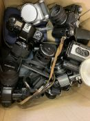 Collection of cameras and lenses