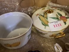 Two Evesham Royal Worcester dishes