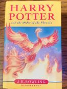 Harry Potter and the Order of the Phoenix, by J K Rowling, First Edition, hardback with dust jacket