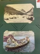 2 old postcard albums