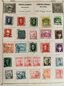 Triumph stamp album of used world material