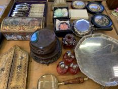 Various boxed cutlery, and other items