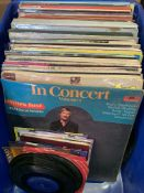 Box of various LP's, 45's and 78's