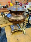 A Samovar, and a set of Salter scales