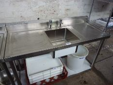 New Diaminox single bowl, double drainer sink with taps