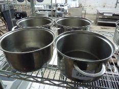 Four cooking pots
