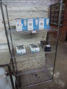 Five tier wire rack