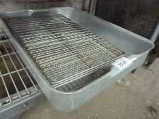 Large baking tray and eight wire racks