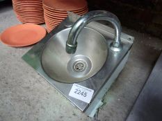 Hand wash sink with tap 30x27x33cms