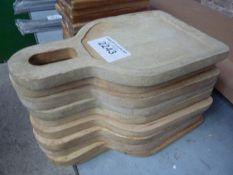 Ten wooden serving boards