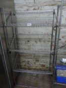 Four tier wire rack