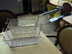 Two fryer baskets