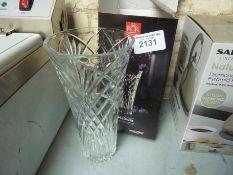 New Melodia crystal vase
