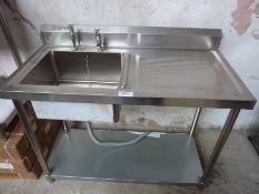 Diaminox new single bowl, single drainer sink