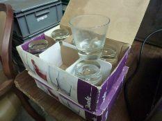 Twelve drinking glasses