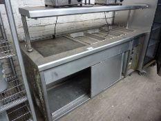 Bain marie hot cupboard with sliding doors