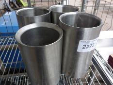 Four utensil pots