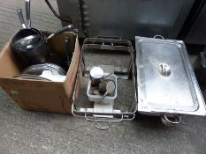 Chafing dish stands and mixed catering goods