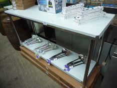 Dimanox prep table with under shelf