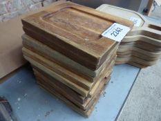 14 wooden serving boards