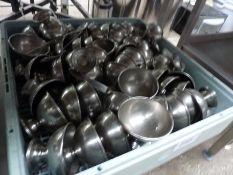 Stainless steel dessert bowls