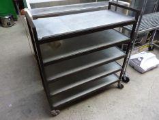 Five tier mobile trolley