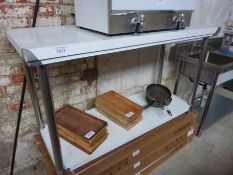New stainless steel prep table with under shelf