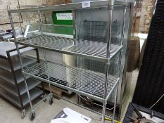 3 tier mobile trolley