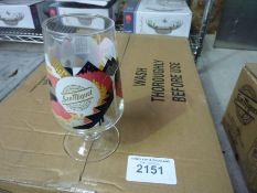 24 San Miguel pint glasses