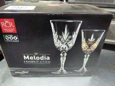 New Melodia six goblet glasses
