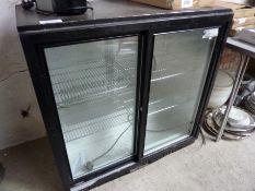 Two door under counter bottle fridge