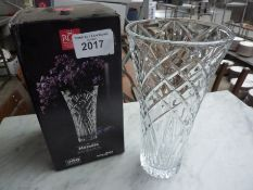 Melodia crystal vase